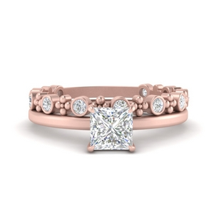 Solitaire Ring With Stacking Band