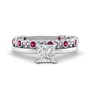 princess-solitaire-engagement-ring-with-pink-sapphire-stacking-band-in-FD9805PRGSADRPIANGLE2-NL-WG