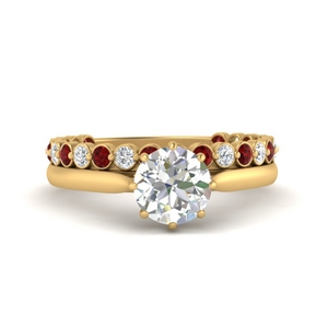 bezel-ruby-band-with-solitaire-engagement-ring-in-FD9806ROGRUDR-NL-YG