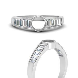 Modern Art Deco Ring Setting