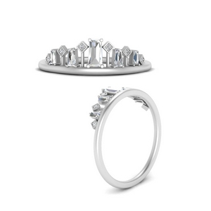 Baguette Band For Solitaire Ring