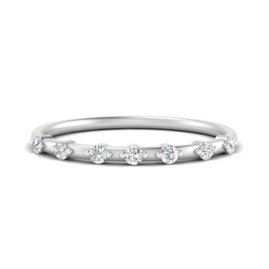 Delicate Diamond Stacking Band