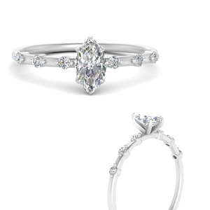 Marquise Petite Engagement Rings