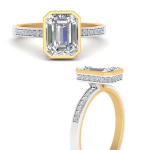Under Halo Diamond Rings