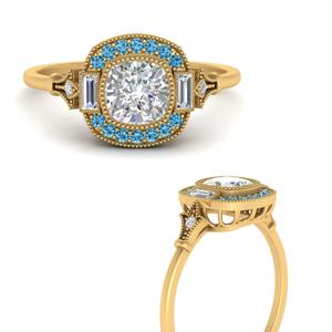 art-deco-halo-cushion-blue-topaz-engagement-ring-in-FD9815RORGICBLTOANGLE3-NL-YG