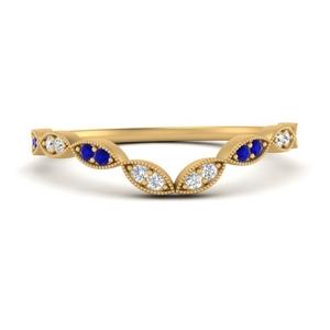 marquise-eye-curved-diamond-wedding-band-with-sapphire-in-FD9816B2GSABL-NL-YG