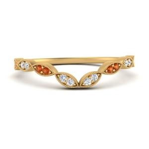 marquise-eye-curved-diamond-wedding-band-with-orange-sapphire-in-FD9816B2GSAOR-NL-YG