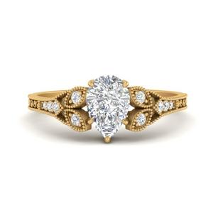 Teardrop Diamond Rings