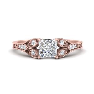 Antique Square Lab Made Diamond Ring
