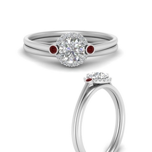 round-delicate-halo-diamond-wedding-set-with-ruby-in-FD9820ROGRUDRANGLE3-NL-WG