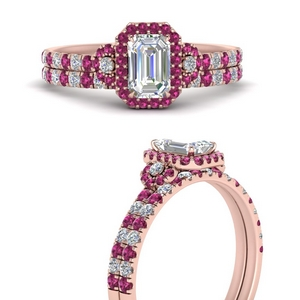 delicate-emerald-cut-halo-engagement-ring-with-pink-sapphire-matching-band-in-FD9821EMGSADRPIANGLE3-NL-RG