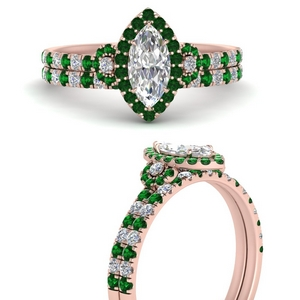 delicate-marquise-cut-halo-engagement-ring-with-emerald-matching-band-in-FD9821MQGEMGRANGLE3-NL-RG