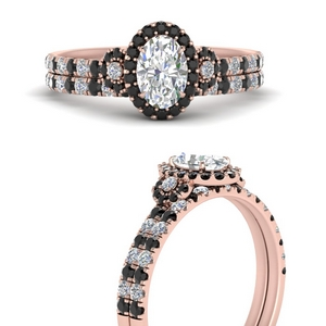 delicate-oval-shaped-halo-engagement-ring-with-black-diamond-matching-band-in-FD9821OVGBLACKANGLE3-NL-RG