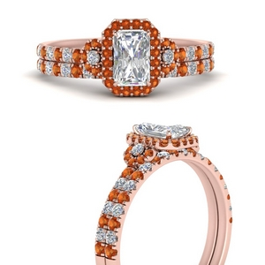delicate-radiant-cut-halo-engagement-ring-with-orange-sapphire-matching-band-in-FD9821RAGSAORANGLE3-NL-RG