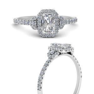Radiant Halo Lab Diamond Rings