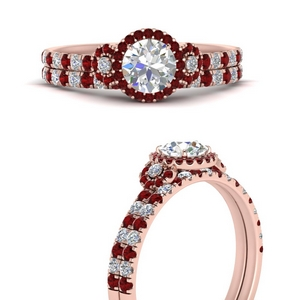delicate-round-cut-halo-engagement-ring-with-ruby-matching-band-in-FD9821ROGRUDRANGLE3-NL-RG