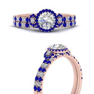delicate-round-cut-halo-engagement-ring-with-sapphire-matching-band-in-FD9821ROGSABLANGLE3-NL-RG