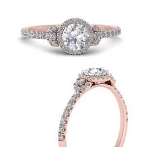 Delicate Moissanite Halo Ring