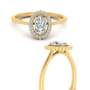 Floating Lab Diamond Halo Ring