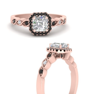 Braided Halo Lab Made Diamond Ring