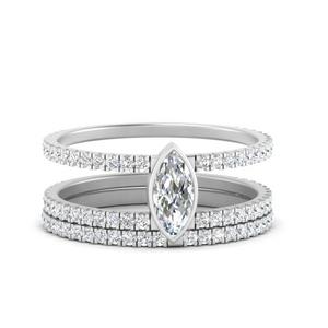 double-band-marquise-diamond-bezel-wedding-set-in-FD9834MQ-NL-WG