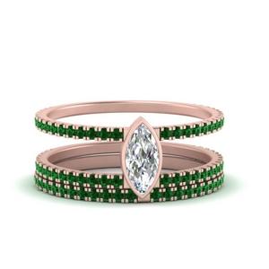 double-band-marquise-emerald-bezel-wedding-set-in-FD9834MQGEMGR-NL-RG