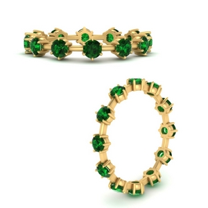 1.20-carat-weight-round-emerald-scattered-eternity-band-in-FDEWB9835-0.10-GEMGRANGLE3-NL-YG