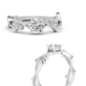 Round Branch Floral Diamond Ring