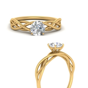 Round Solitaire Lab Diamond Rings