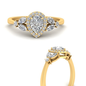 marquise-and-pear-diamond-halo-cathedral-engagement-ring-in-FD9841PERANGLE3-NL-YG