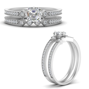 east-west-pave-asscher-diamond-wedding-ring-set-in-FD9843ASANGLE3-NL-WG