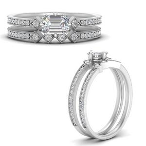 east-west-pave-emerald-cut-diamond-wedding-ring-set-in-FD9843EMANGLE3-NL-WG