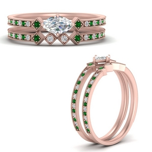 east-west-pave-marquise-diamond-wedding-ring-set-with-emerald-in-FD9843MQGEMGRANGLE3-NL-RG