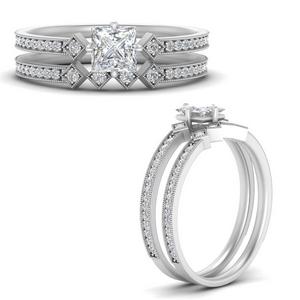 east-west-pave-princess-cut-diamond-wedding-ring-set-in-FD9843PRANGLE3-NL-WG