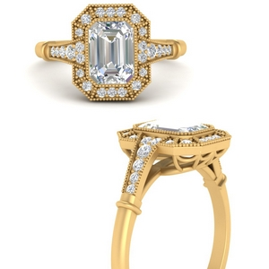 Elongated Vintage Diamond Ring