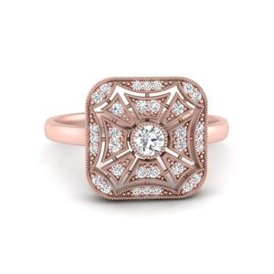Square Antique Diamond Ring
