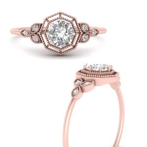 Hexagon Diamond Anniversary Ring