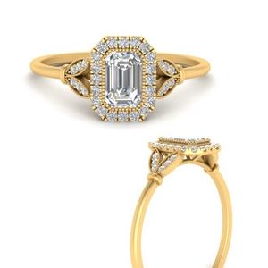 french-prong-emerald-diamond-halo-leaf-engagement-ring-in-FD9870EMRANGEL3-NL-YG