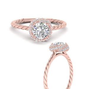 Twist Engagement Rings
