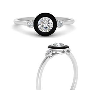 round-enamel-3-stone-diamond-engagement-ring-in-FD9874RORANGLE3-NL-WG