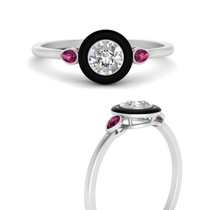 round-enamel-3-stone-pink-sapphire-engagement-ring-in-FD9874RORGSADRPIANGLE3-NL-WG