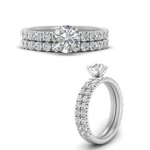 Classic Pave Diamond Wedding Set