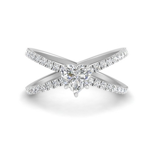Heart Diamond Side Stone Rings