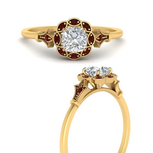 cushion-cut-vintage-halo-ruby-engagement-ring-in-FD9896CURGRUDRANGLE3-NL-YG
