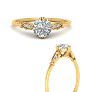 Petite Cathedral Crown Diamond Ring