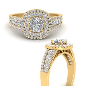 cushion-3-row-double-halo-diamond-engagement-ring-in-FD9900CURANGEL3-NL-YG