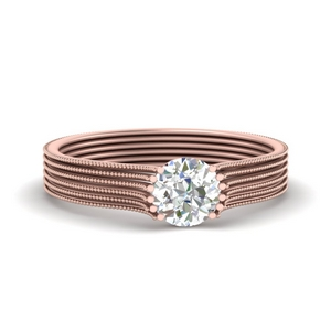 Moissanite Thick Solitaire Ring