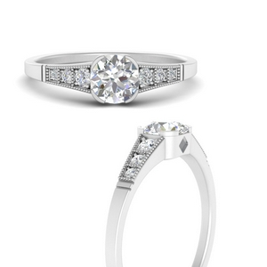 Cathedral Accented Diamond Ring