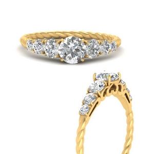 Moissanite Graduated Antique Ring