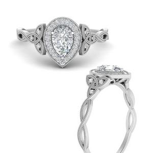 Lab Diamond Celtic Twisted Ring